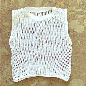 Mesh Fishnet Crop Top